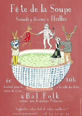 Affiche Bal folk fête de la soupe à Heilles
