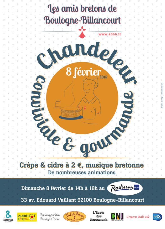 Affiche Animation la chandeleur des Amis Bretons de Boulogne Billancourt à Boulogne-Billancourt