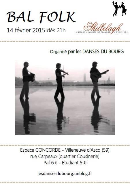 Affiche Bal folk  à Villeneuve-d'Ascq