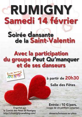 Affiche Bal folk bal de la Saint-Valentin à Rumigny