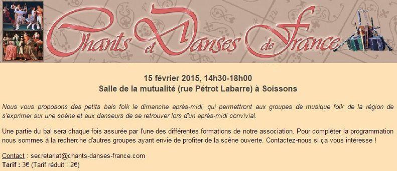 Affiche Bal folk Le P'tit bal folk du dimanche à Soissons