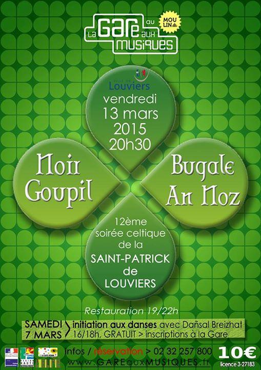 Affiche Bal folk fest-noz 12ème Saint Patrick  à Louviers