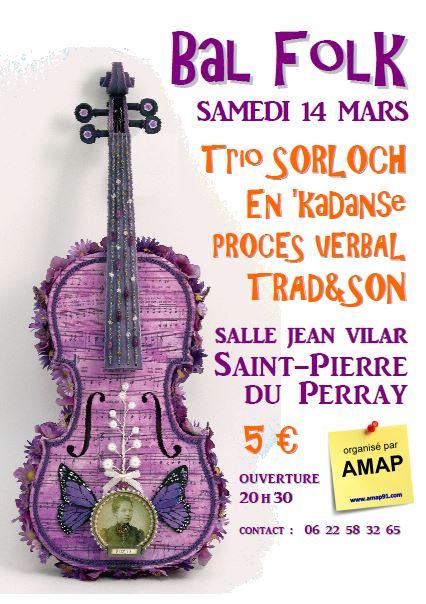 Affiche Bal folk  à Saint-Pierre-du-Perray