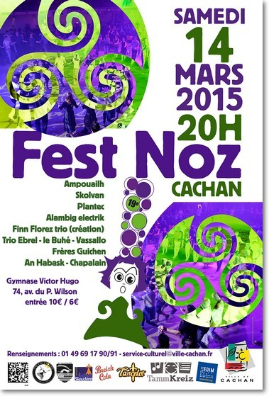 Affiche Fest-noz  à Cachan