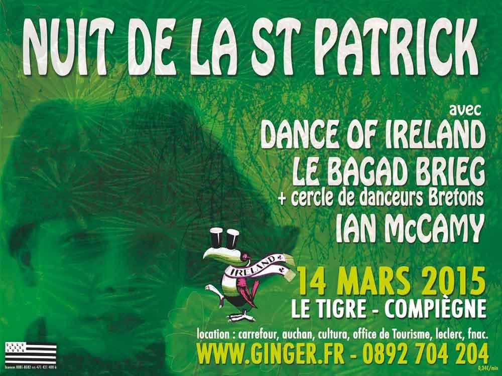 Affiche Concert Nuit de la St Patrick à Margny-lès-Compiègne