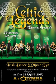 Affiche Spectacle Celtic Legends à Paris