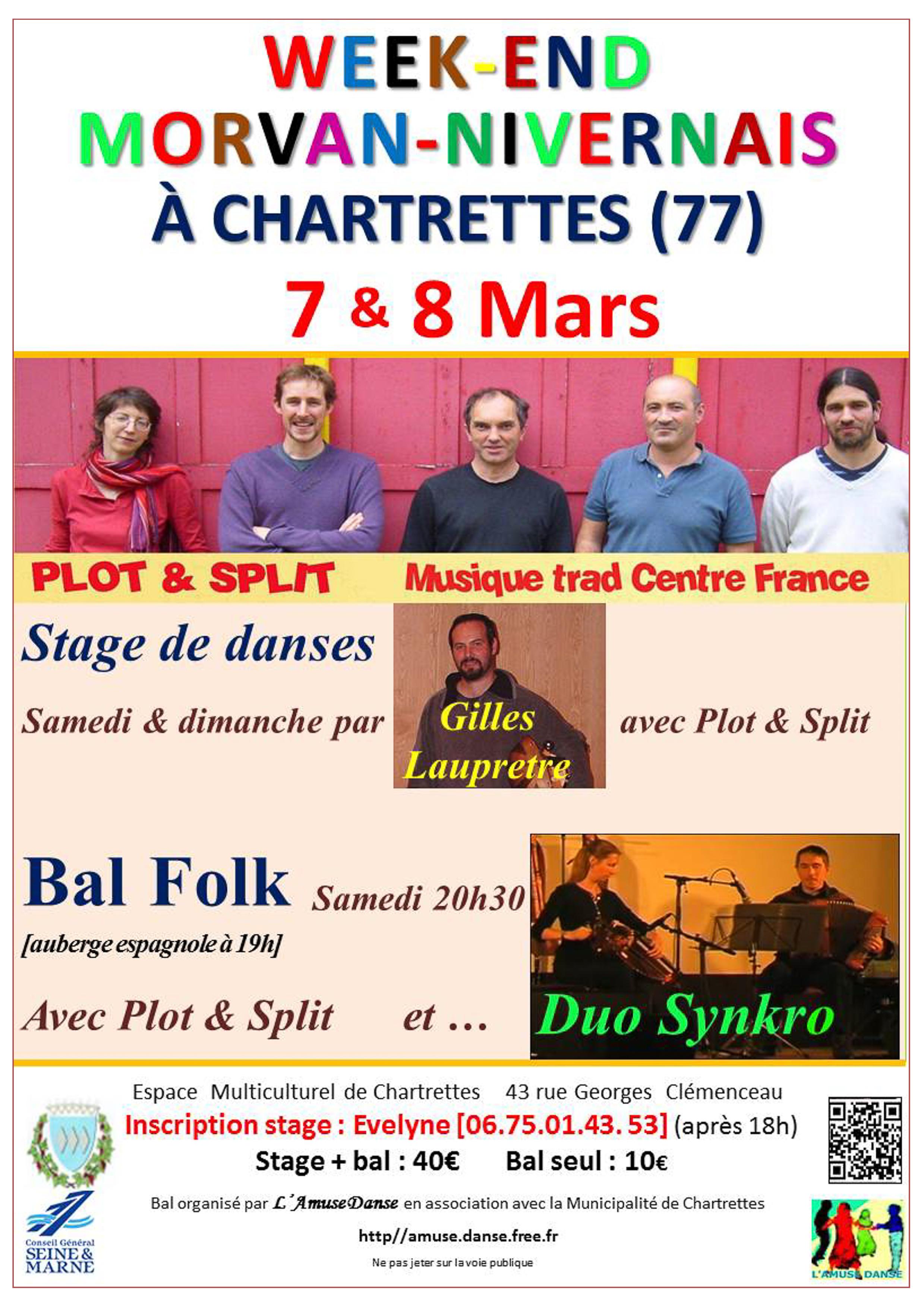 Affiche Stage danses du Morvan-Nivernais à Chartrettes