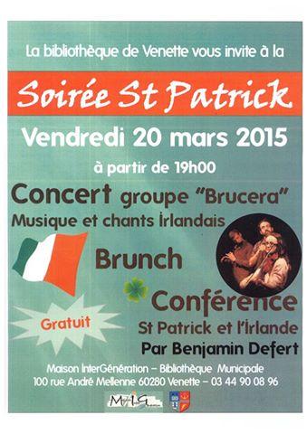 Affiche Concert Venette fête Saint-Patrick à Venette