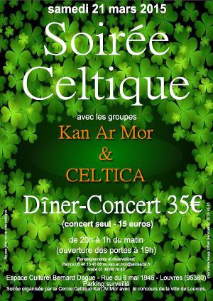 Affiche Concert St Patrick 2015 à Louvres
