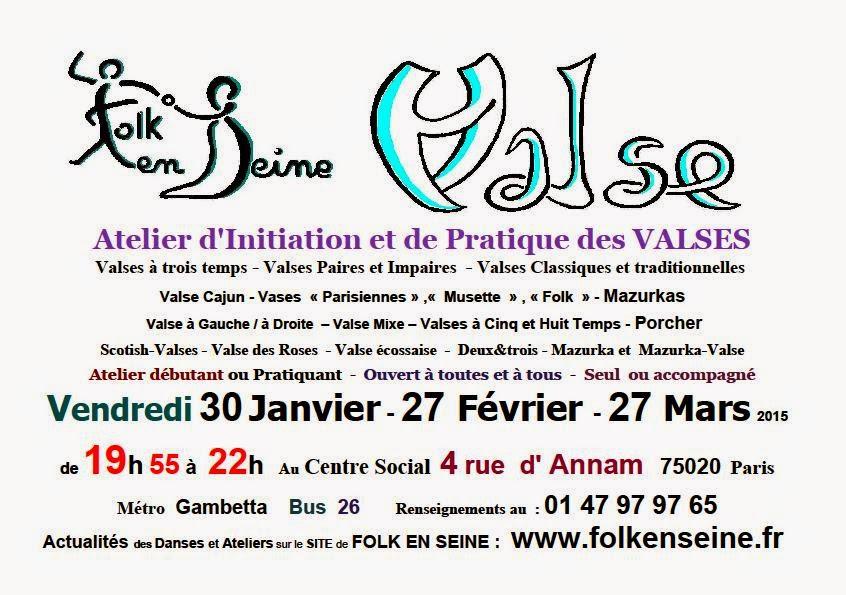 Affiche Stage valses et danses valsées à Paris