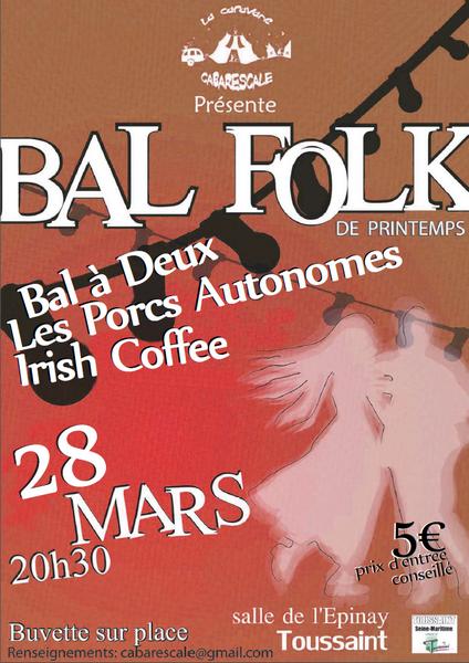 Affiche Bal folk bal folk du printemps à Toussaint