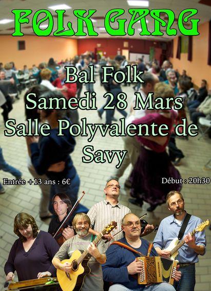 Affiche Bal folk bal du printemps à Savy à Savy