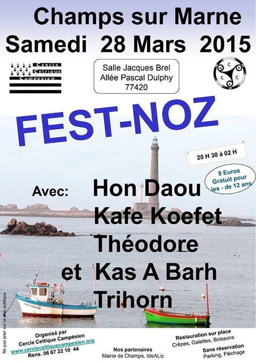 Affiche Fest-noz  à Champs-sur-Marne