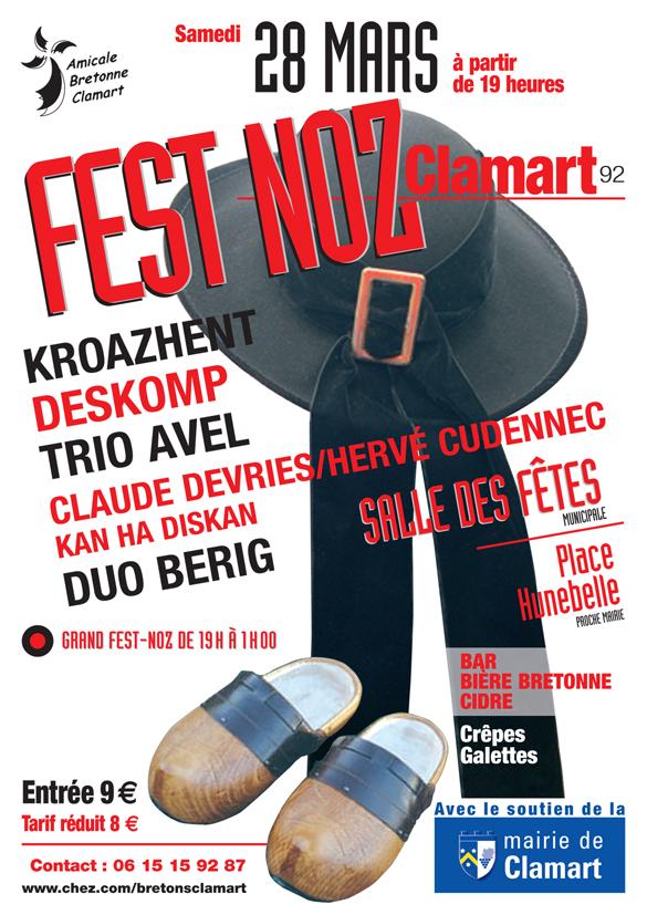 Affiche Fest-noz  à Clamart