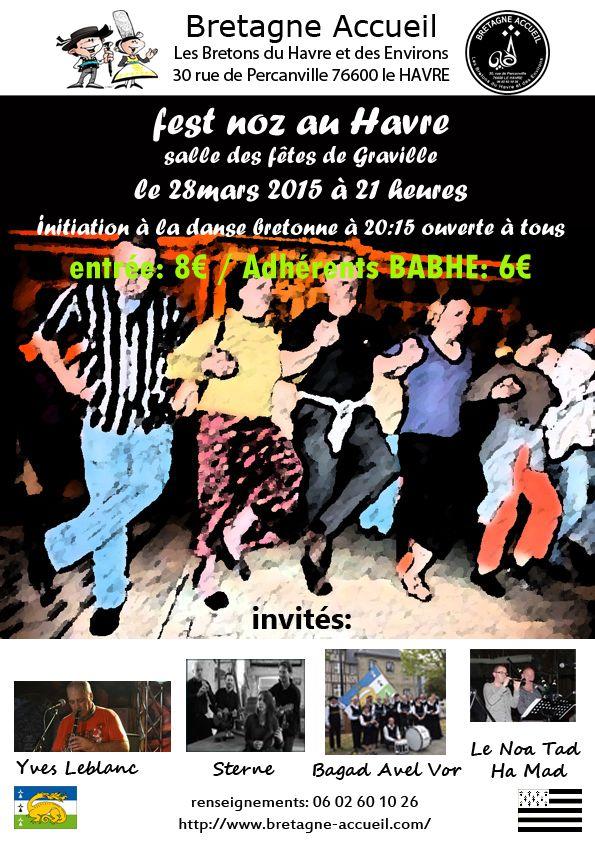 Affiche Fest-noz  à Le Havre