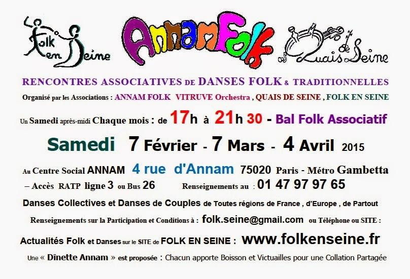 Affiche Bal folk Annam-folk bal folk associatif à Paris