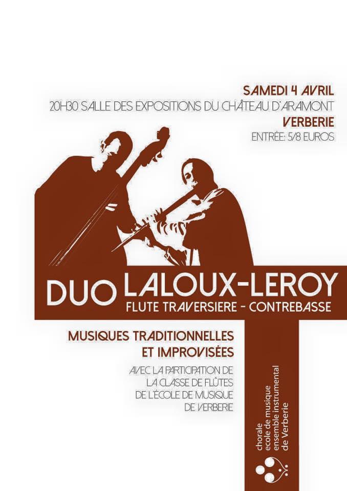 Affiche Concert musiques traditionnelles et improvisées à Verberie