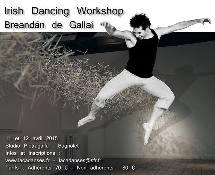 Affiche Stage danse irlandaise avec Breandán De Gallaí à Bagnolet