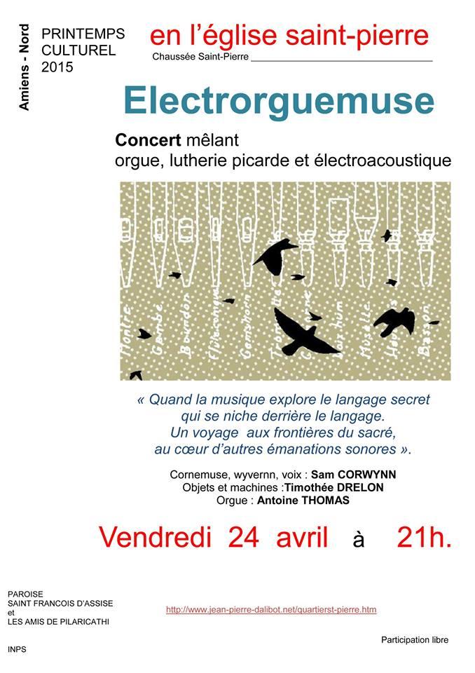 Affiche Concert Electrorguemuse à Amiens