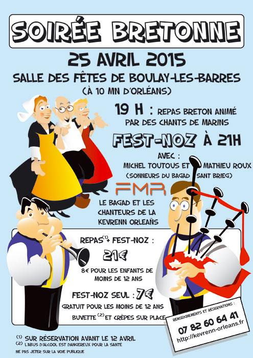 Affiche Fest-noz  à Boulay-les-Barres