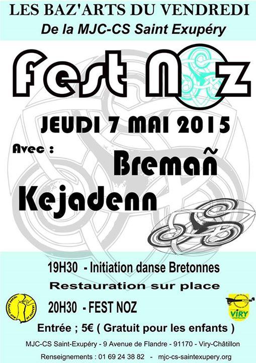 Affiche Fest-noz Les Baz'arts du vendredi à Viry-Châtillon