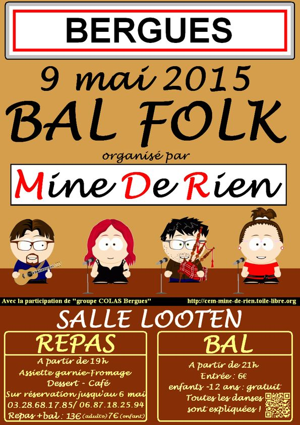 Affiche Bal folk  à Bergues