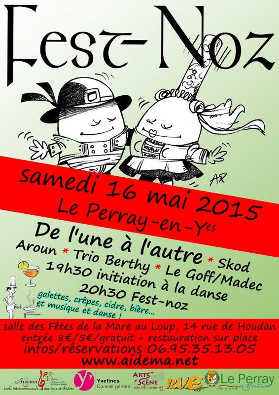 Affiche Fest-noz Aidema à Le Perray-en-Yvelines