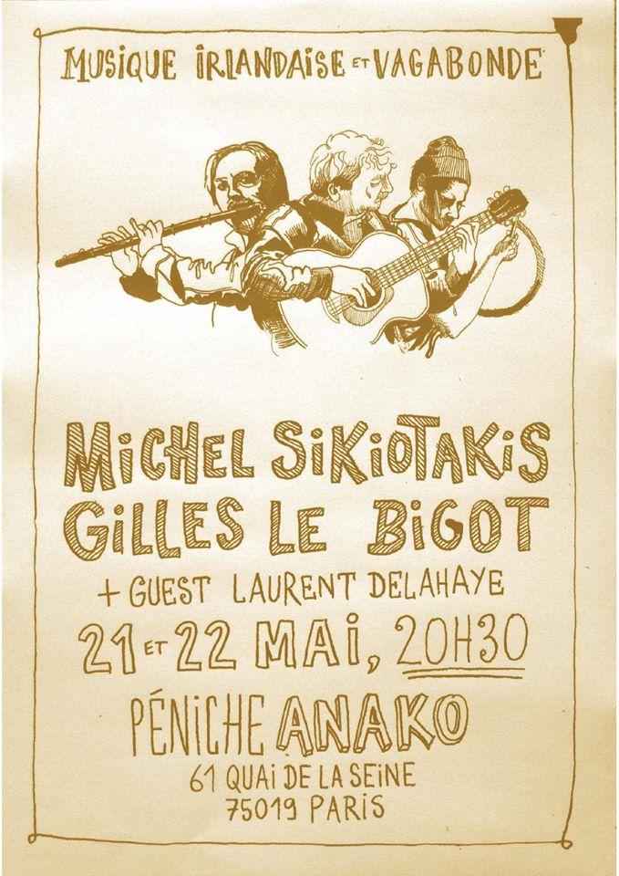 Affiche Concert musique irlandaise et vagabonde à Paris