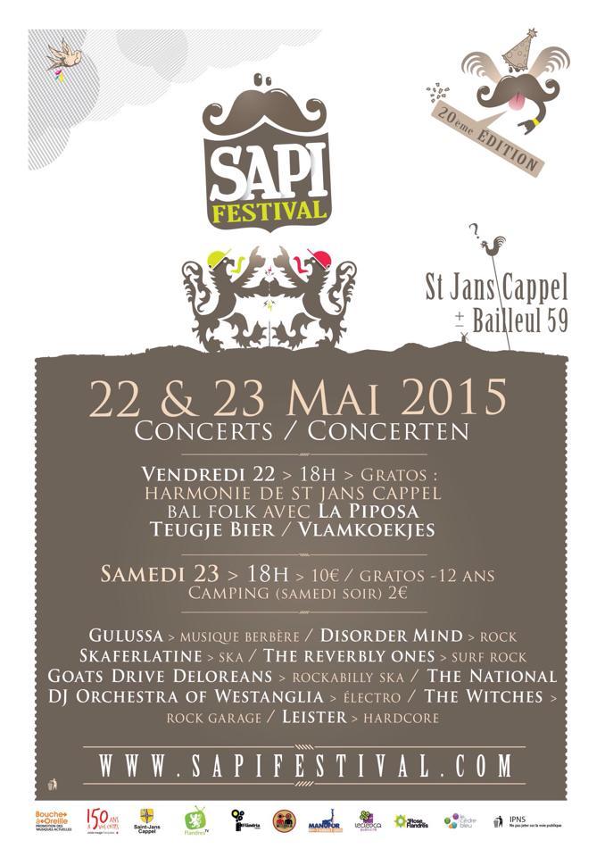 Affiche Bal folk Sapifestival à Saint-Jans-Cappel