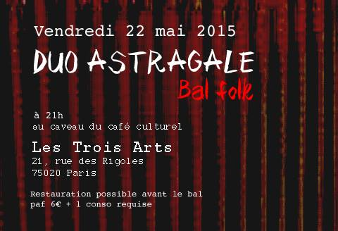 Affiche Bal folk  à Paris