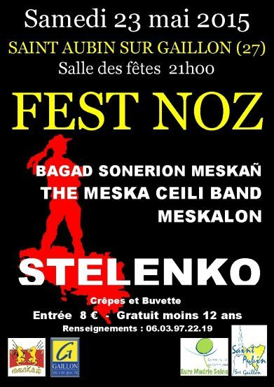 Affiche Fest-noz  à Saint-Aubin-sur-Gaillon