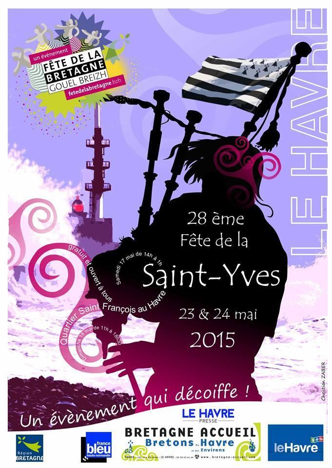 Affiche Festival fête de la Saint-Yves à Le Havre