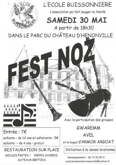 Affiche Fest-noz  à Hénonville