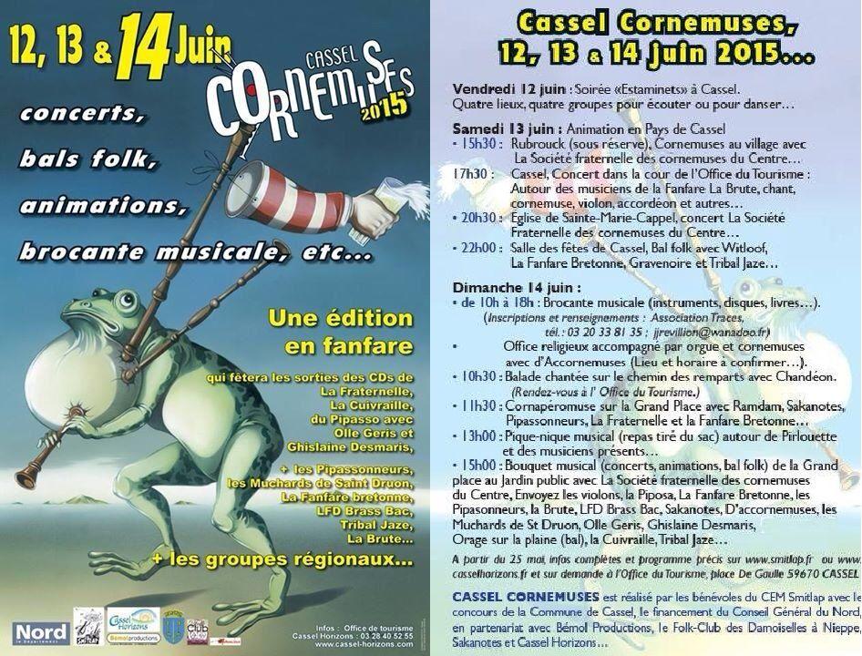 Affiche Festival Cassel cornemuses à Cassel