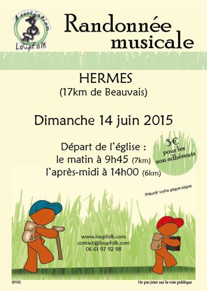 Affiche Autre randonnée trad musicale et chantée à Hermes