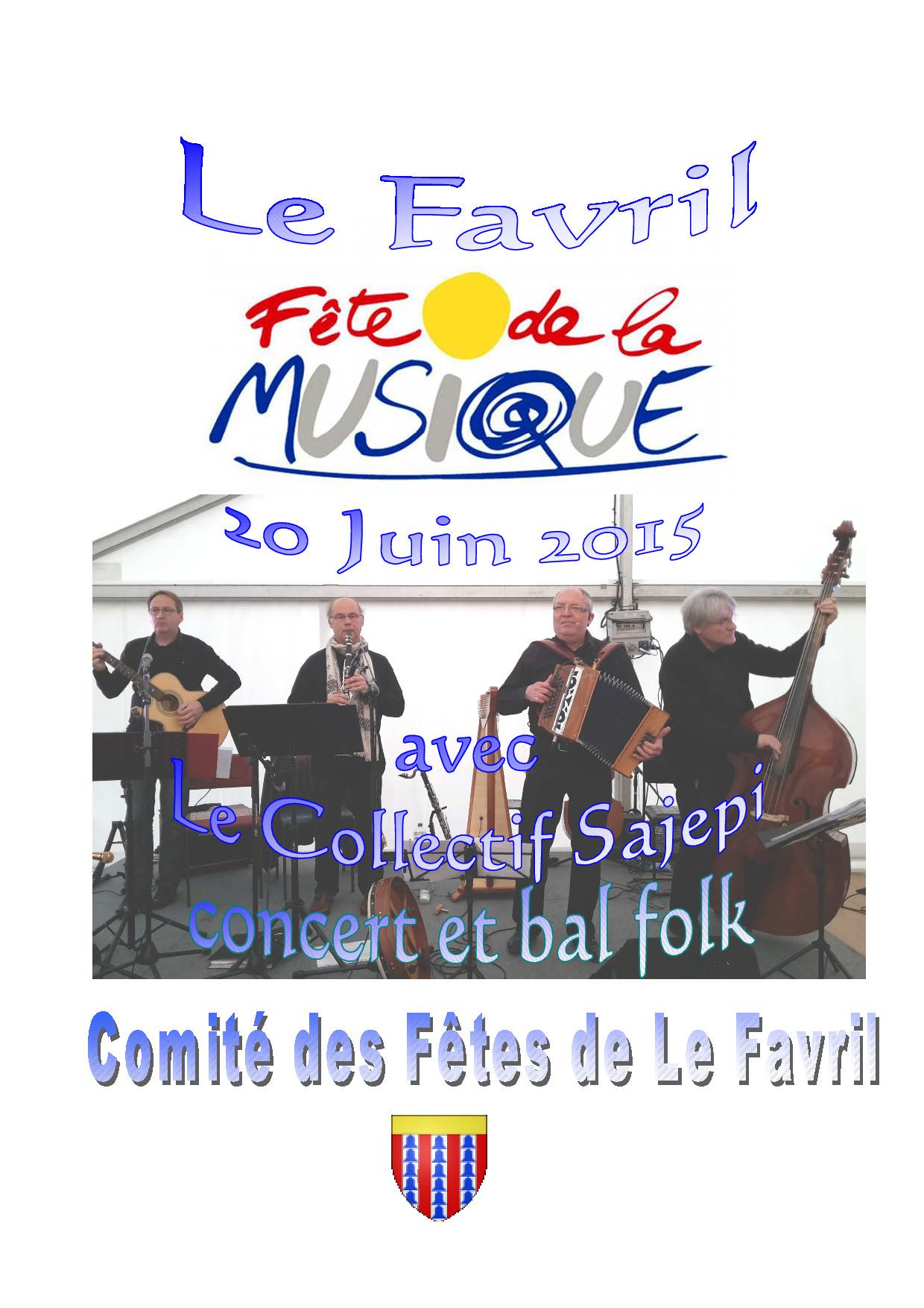 Affiche Bal folk concert et bal folk à Le Favril