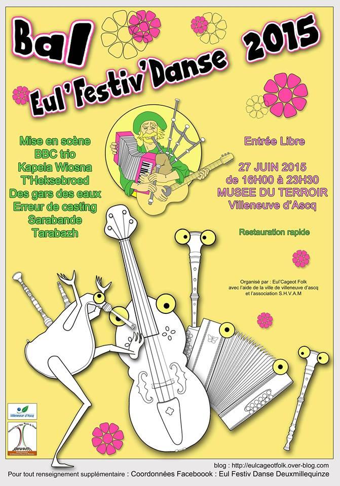 Affiche Festival Eul Festiv'danse 2015 à Villeneuve d'Ascq