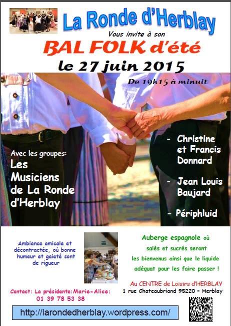 Affiche Bal folk bal folk d'été à Herblay
