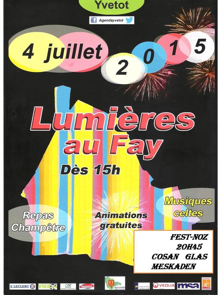 Affiche Fest-noz Les  Lumière  du  Fay à Yvetot