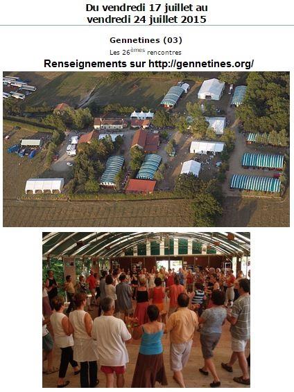 Affiche Festival 26ème Grand Bal de l'Europe de Gennetines à Gennetines