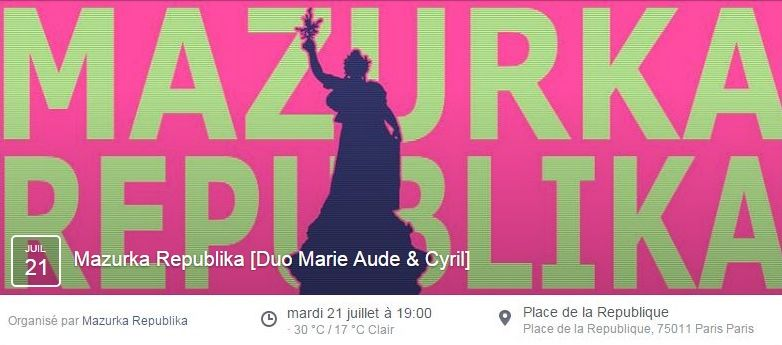 Affiche Bal folk Mazurka Republika à Paris