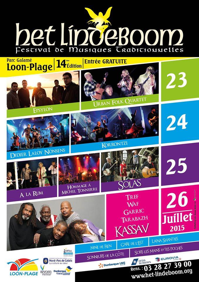 Affiche Festival Het Lindeboom à Loon-Plage