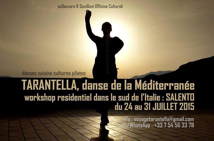 Affiche Stage Tarantella, danse de la Méditerranée à Lecce, Italie