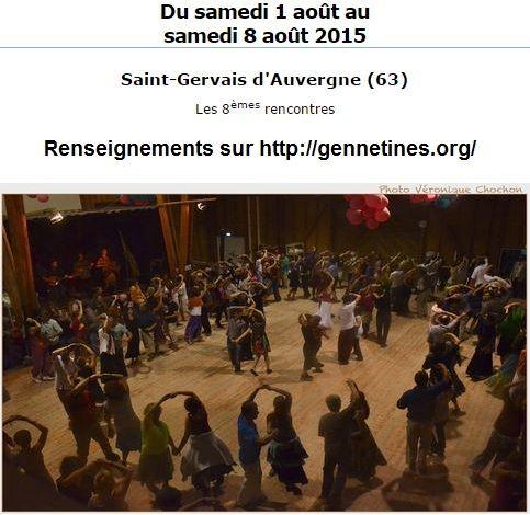 Affiche Festival 8ème Grand Bal de l'Europe de Saint-Gervais d'Auvergne à St-Gervais d'Auvergne