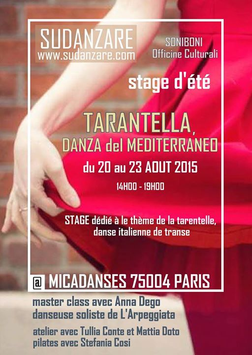 Affiche Stage tarentelle contemporaine à Paris