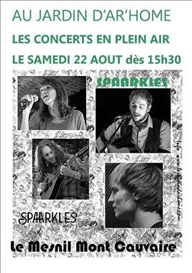 Affiche Concert Spaarkles à Mont Cauvaire