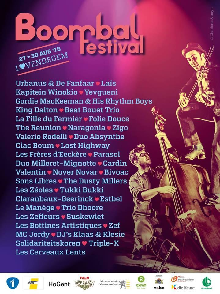 Affiche Festival Boombalfestival 2015 à Lovendegem, Belgique