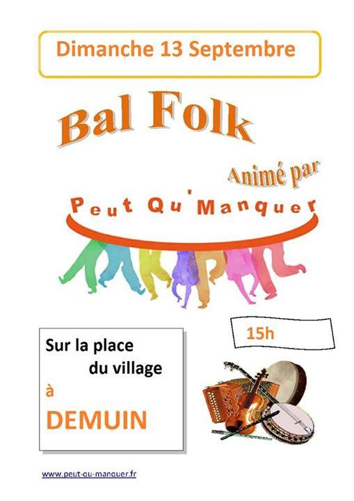 Affiche Bal folk  à Démuin