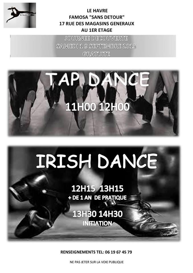 Affiche Atelier annuel danses irlandaises et américaines à Le Havre