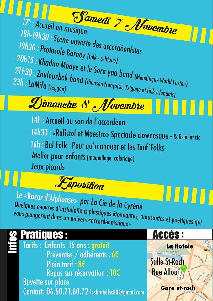 Affiche Festival Les Bretelles s'en mêlent à Amiens 2015